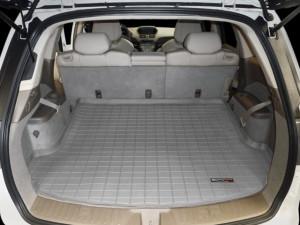 Acura MDX 2007-2013 - Коврик резиновый в багажник, 5 мест, серый. (WeatherTech) фото, цена