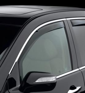 Acura MDX 2007-2013 - Дефлекторы окон (ветровики), передние, темные. (WeatherTech) фото, цена