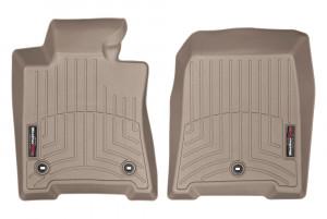 Acura TL 2009-2015 - Коврики резиновые с бортиком, передние, бежевые. (WeatherTech) фото, цена