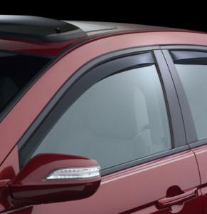 Acura TL 2004-2008 - Дефлекторы окон (ветровики), передние, темные. (WeatherTech) фото, цена