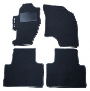 Honda Jazz/Fit 2001-2008 - Коврики тканевые, серые, комплект 4 штуки. (PROFITEX) фото, цена
