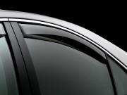Audi A4 2009-2014 - Дефлекторы окон (ветровики), задние, темные. (WeatherTech) фото, цена