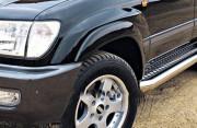 Toyota Land Cruiser 1998-2007 - Расширители колесных арок, к-т 8 шт, черные (EGR) фото, цена