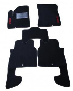 Hyundai Santa Fe 2010-2014 - Коврики тканевые, черные, комплект 4 штуки. (ML)  фото, цена
