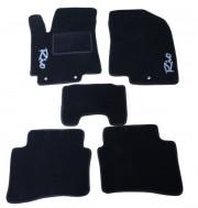 Kia Rio 2011-2014 - Коврики тканевые, черные, комплект 4 штуки. (Fortuna)  фото, цена