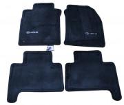 Lexus GX 2003-2010 - Коврики тканевые, черные, комплект 4 штуки. (Lexus)  фото, цена