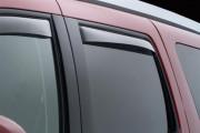 Cadillac Escalade 2007-2014 - Дефлекторы окон (ветровики), задние, темные. (WeatherTech) фото, цена