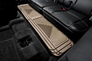 Cadillac Escalade 2002-2006 - Коврики резиновые, задние, 3 ряд, бежевые. (WeatherTech) фото, цена