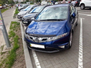 Honda Civic 2006-2012 - (h/b) - Дефлектор капота, темный, с надписью, EGR фото, цена