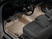 Chevrolet Silverado 2008-2015 - Коврики резиновые с бортиком, передние, бежевые. (WeatherTech) фото, цена