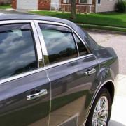 Chrysler 300C 2011-2014 - Дефлекторы окон (ветровики), задние, темные. (WeatherTech) фото, цена