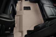 Dodge Durango 2011-2015 - Коврики резиновые с бортиком, задние, 3 ряд сидений, бежевые. (Weathertech) фото, цена