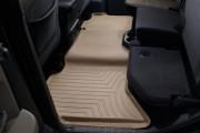 Dodge Ram 2009-2015 - Коврики резиновые с бортиком, задние, бежевые. (WeatherTech) фото, цена