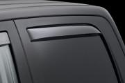 Dodge Ram 2010-2014 - Дефлекторы окон (ветровики), задние, светлые. (WeatherTech) фото, цена