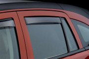 Dodge Caliber 2007-2012 - Дефлекторы окон (ветровики), задние, темные. (WeatherTech) фото, цена