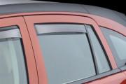 Dodge Caliber 2007-2012 - Дефлекторы окон (ветровики), задние, светлые. (WeatherTech) фото, цена