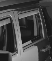 Dodge Nitro 2007-2011 - Дефлекторы окон (ветровики), задние, светлые. (WeatherTech) фото, цена