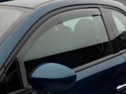 Fiat 500 2011-2014 - Дефлекторы окон (ветровики), передние, темные. (WeatherTech) фото, цена