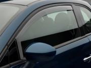 Fiat 500 2011-2014 - Дефлекторы окон (ветровики), передние, светлые. (WeatherTech) фото, цена