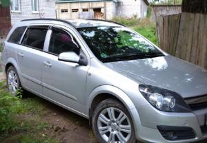 Opel Astra H 2004-2009 - wagon Дефлекторы окон (ветровики), комлект. (Cobra Tuning) фото, цена