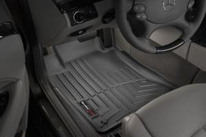 Mercedes-Benz E 2003-2009 - Коврики резиновые с бортиком, передние, черные. (WeatherTech) фото, цена