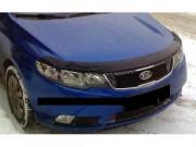 Kia Cerato 2009-2014 - Дефлектор капота (мухобойка), темный (Kia) фото, цена