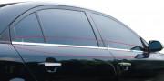Hyundai Tucson 2004-2008 - Хромированные накладки на секло, уплотнитель, комплект (Clover) фото, цена