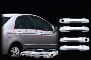 Kia Cerato 2004-2008 - Хромированные накладки под ручки, комплект 4 шт (Clover) фото, цена