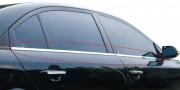 Kia Cerato 2004-2008 - Хромированные накладки на секло, уплотнитель, комплект (Clover) фото, цена