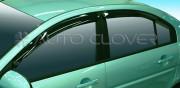Hyundai Elantra 2006-2011 - Дефлекторы окон (ветровики), ребристые, комплект. (Clover) фото, цена