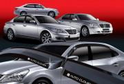 Hyundai Grandeur 2005-2012 - Дефлекторы окон (ветровики), ребристые, комплект. (Clover) фото, цена