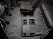 Toyota Highlander 2014-2019 - Коврики резиновые с бортиком, задние 2-3 ряды, черные. (WeatherTech) фото, цена