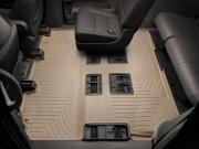Toyota Highlander 2014-2019 - Коврики резиновые с бортиком, задние 2-3 ряды, бежевые. (WeatherTech) фото, цена
