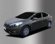 Kia Cerato 2013-2016 - Дефлекторы окон (ветровики), ребристые, к-т 4 шт (Clover) фото, цена
