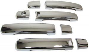 Nissan Qashqai 2007-2013 - Хромированные накладки на ручки, комплект 4 шт (Welstar) фото, цена