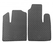Fiat Doblo 2010-2015 - Коврики резиновые, передние, черные (Doma) фото, цена