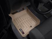 Jeep Wrangler 2007-2013 - Коврики резиновые с бортиком, передние, бежевые (WeatherTech) фото, цена