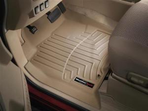 Nissan Armada 2004-2008 -  Коврики резиновые с бортиком, передние, бежевые (WeatherTech) фото, цена