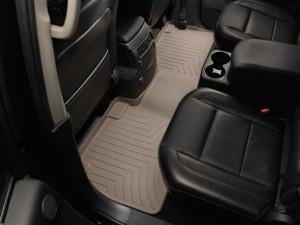 Nissan Armada 2009-2015 -  Коврики резиновые с бортиком, задние, 2 ряд, бежевые (WeatherTech) фото, цена