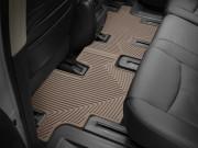 Nissan Pathfinder 2013-2014 - Коврики резиновые, задние, 2 ряд, бежевые (WeatherTech) фото, цена
