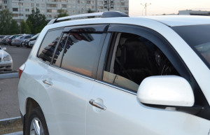 Toyota Highlander 2008-2013 - Дефлекторы окон (ветровики), комлект. (Cobra Tuning) фото, цена