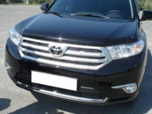 Toyota Highlander 2010-2013 - Дефлектор капота (мухобойка),  SIM фото, цена