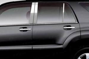 Toyota Highlander 2008-2013 - Хромированные накладки на ручки, к-т 4 шт (RiTrenz) фото, цена
