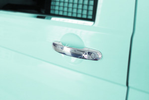 Volkswagen Caddy 2010-2015 - Хромированные накладки на ручки, к-т 3 шт. (OMSA) фото, цена