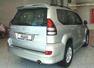 Toyota Land Cruiser Prado 2003-2008 - Юбка заднего бампера (Toyota) фото, цена