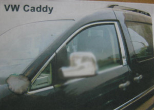 Volkswagen Caddy 2010-2015 - Хромированные накладки на стекло, верхние, к-т 6 шт  (OMSA)  фото, цена