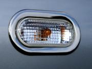 Volkswagen Caddy 2010-2015 - Хромированные накладки на поворотники, к-т 2 шт (OMSA) фото, цена