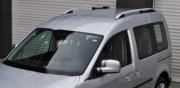 Volkswagen Caddy 2010-2015 - Хромированные рейлинги, к-т 2 шт. (Турция) фото, цена