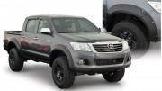 Toyota Hilux 2010-2015 - Расширители колесных арок к-т 4 шт (Bushwacker) Pocket Style. фото, цена