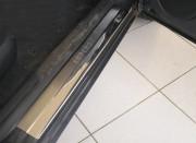 Skoda Superb 2002-2008 - Накладки на внутренние пороги, к-т 4 шт. (НатаНико) фото, цена